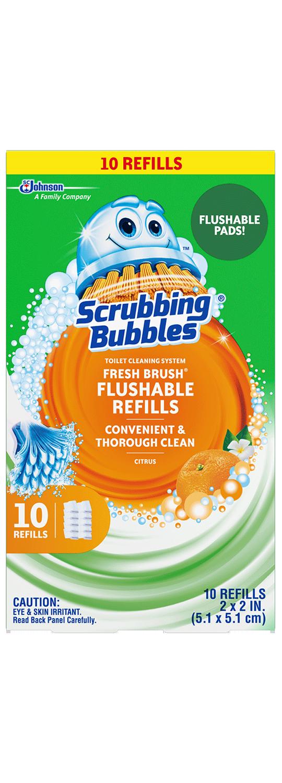Scrubbing Bubbles Fresh Brush Recargas desechables, paquete de 10